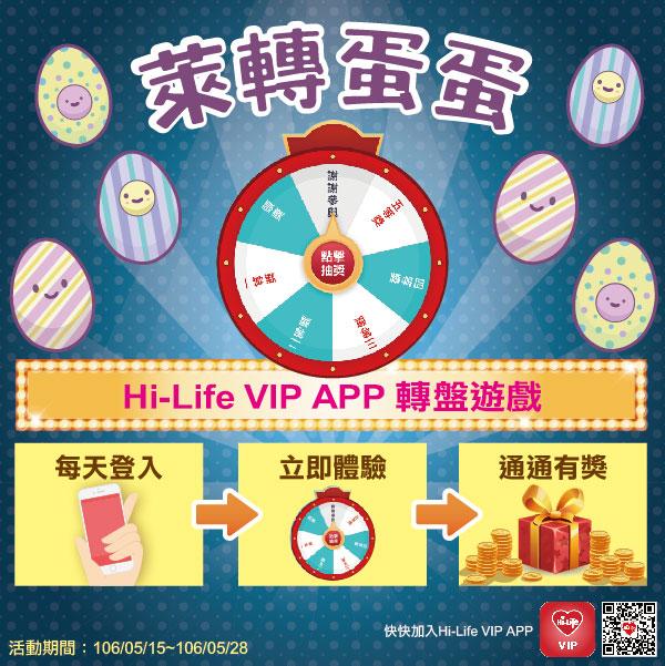 天天登入Hi-Life VIP!萊轉蛋蛋,通通有獎~5/28止_img_1